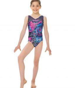Feathery Fun Gymnastics Leotard by Snowflake Designs NEW